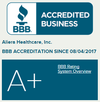 Alieracare Better Business rating