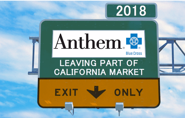Anthem leaving California counties in 2018